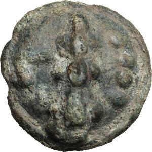 reverse: Northern Apulia, Luceria.  Light series. AE Cast Quadrunx, c. 217-212 BC