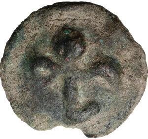 reverse: Northern Apulia, Luceria.  Light series. AE Cast Semuncia, c. 217-212 BC