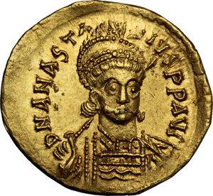 obverse: Anastasius I (491-518). AV Solidus, Constantinople, c. 507-508