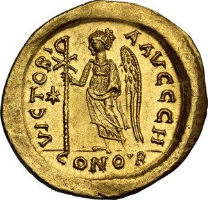 reverse: Anastasius I (491-518). AV Solidus, Constantinople, c. 507-508