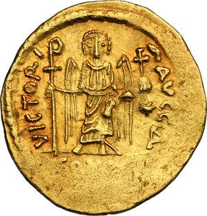reverse: Maurice Tiberius (582-602). AV light Solidus (= 23 Siliquae), Constantinople mint