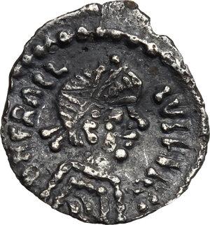 obverse: Heraclius (610-641). AR Quarter of Siliqua, Ravenna mint