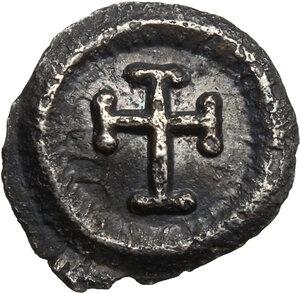 reverse: Heraclius (610-641). AR Quarter of Siliqua, Ravenna mint