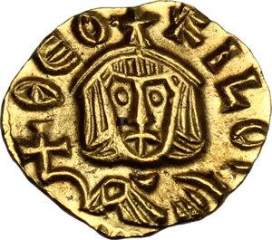 obverse: Theophilus (829-842). AV Tremissis, Syracuse mint