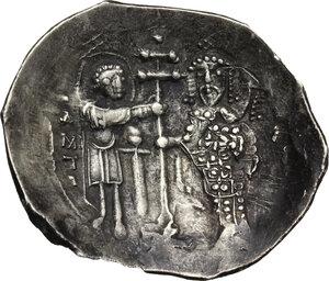 reverse: Alexius I, Comnenus (1081-1118). Pale EL or AR Histamenon Nomisma, Thessalonica mint, 1082-1087 AD