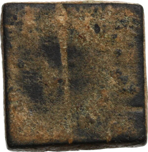reverse: AE square weight of 3 Grammata or 1/18 Onkia, c. 5th-7th century AD