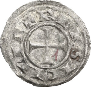 Federico II (1197-1250). Denaro, 1221, Brindisi