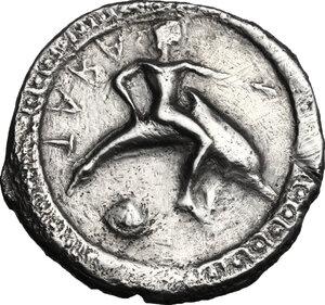 Southern Apulia, Tarentum. AR Nomos, c. 510-500 BC