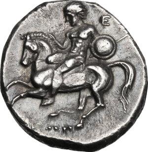 obverse: Southern Apulia, Tarentum. AR Nomos, c. 302-280 BC