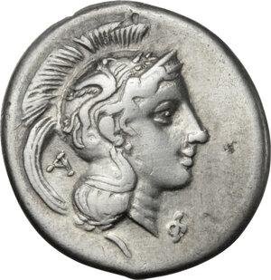 obverse: Northern Lucania, Velia. AR Didrachm, period VII, Philistion Group, 300-280 BC