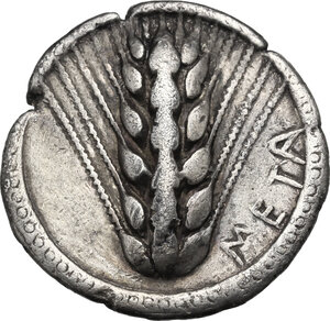 obverse: Southern Lucania, Metapontum. AR Stater, 510-470 BC