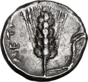 reverse: Southern Lucania, Metapontum. AR Diobol, c. 325-275 BC