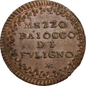 Foligno.  Pio VI (1775-1799), Giovanni Angelo Braschi. Mezzo Baiocco, A. XX