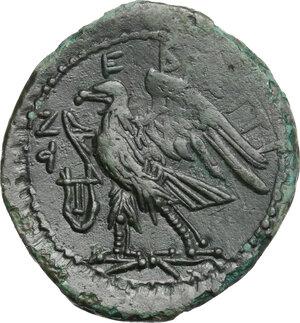 reverse: Bruttium, Brettii. AE 24 mm. 208-203 BC