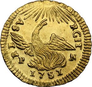 Palermo.  Carlo di Borbone (1734-1759). Oncia 1751