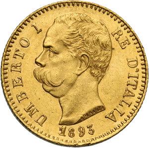 Umberto I (1878-1900). 20 lire 1893