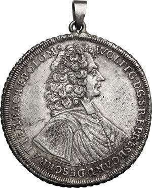 obverse: Austria.  Wolfgang, Graf von Schrattenbach (1711-1738), Bishop. Thaler 1722, Olmütz mint