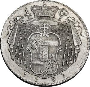 reverse: Austria.  Hieronymus von Colloredo (1772-1803), archpishop. Thaler 1787, Salzbourg mint