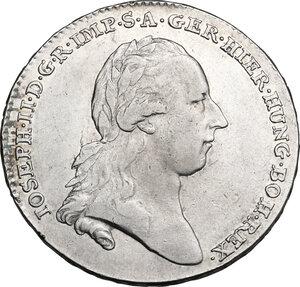 obverse: Austrian Netherlands.  Joseph II (1765-1790). Kronentaler 1789, Brussels mint