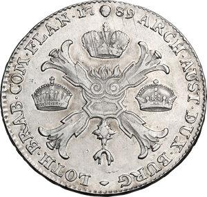 reverse: Austrian Netherlands.  Joseph II (1765-1790). Kronentaler 1789, Brussels mint