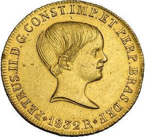 obverse: Brazil.  Pedro II (1831-1889). 4 Escudos (6400 Reis) 1832