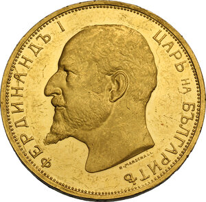 obverse: Bulgaria.  Ferdinand I (1908-1918). 100 Leva 1908 (1912). Commemorating the fourth anniversary of independence. Sophia mint