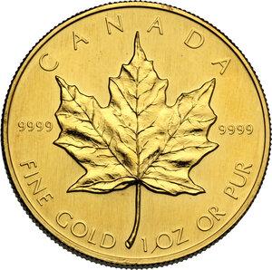 reverse: Canada.  Elizabeth II (1952- ). 50 Dollars 1988