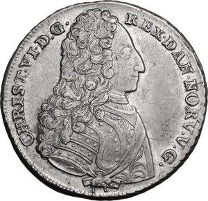 obverse: Denmark.  Christian VI (1730-1746). Krone (4 Mark) 1731, Copenhagen mint