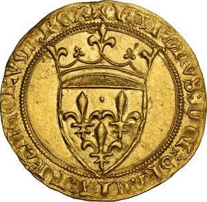 obverse: France.  Charles VI (1380-1422). Ecu d or à la couronne