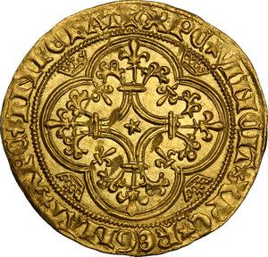 reverse: France.  Charles VI (1380-1422). Ecu d or à la couronne
