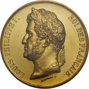 obverse: France.  Louis Philippe I (1830-1848). Medal 1836. On the Completion of the Arc de Triomphe