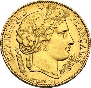 obverse: France.  Second Republic (1848-1851). 20 Francs 1851 A, Paris mint