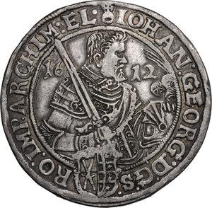 obverse: Germany, Sachsen.  Johann Georg I and August (1611-1612). Reichstaler 1612, Dresden mint