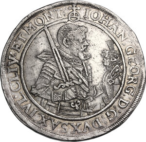 obverse: Germany.  Saxony. Johann Georg Ier (1615-1656). Thaler 1622, Dresden mint