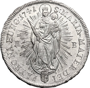 reverse: Hungary.  Maria Theresa (1740-1780). Thaler 1741 KB, Kremnitz mint