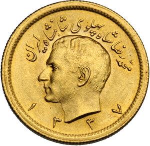 obverse: Iran.  Mohammed Reza Pahlevi (1941-1979). Pahlevi 1337 SH (1959)