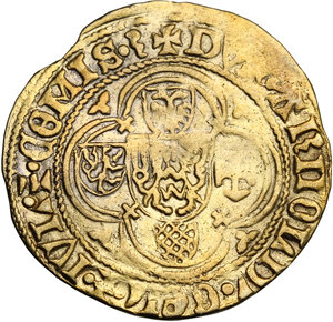 reverse: Netherlands.  Arnold Van Egmond (1423-1471). St. Jans Goldgulden (Florin d or)