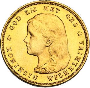obverse: Netherlands.  Wilhelmina (1890-1948). 10 Gulden 1897
