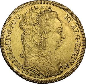 obverse: Portugal.  Maria I (1786-1799). 4 Escudos (6400 Reis) 1792