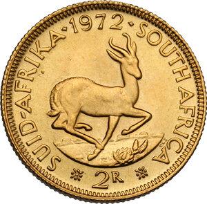 reverse: South Africa.  Republic (1960- ). 2 rand 1972