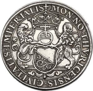 obverse: Switzerland. Silver box Thaler. Sec. /???. Kanton Zürich. By Hans Jacob Stampfer. Undated (16th century)