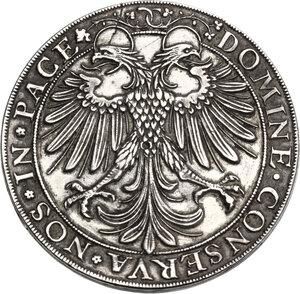 reverse: Switzerland. Silver box Thaler. Sec. /???. Kanton Zürich. By Hans Jacob Stampfer. Undated (16th century)