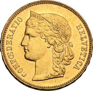 obverse: Switzerland.  Confederation (1848- ). 20 Francs 1896 B, Bern mint