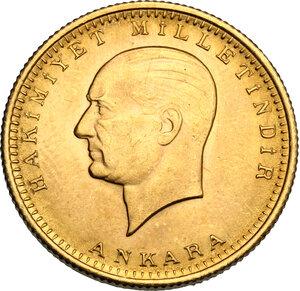obverse: Turkey.  Republic (1923- ). 100 Piastes 1969 (46)