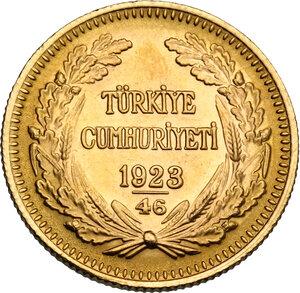 reverse: Turkey.  Republic (1923- ). 100 Piastes 1969 (46)