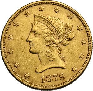 obverse: USA. 10 Dollars 1879