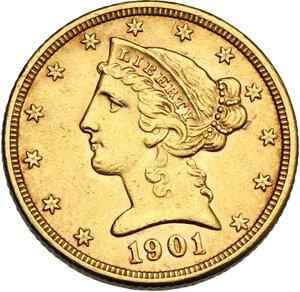 obverse: USA. 5 Dollars 1901 S, San Francisco mint