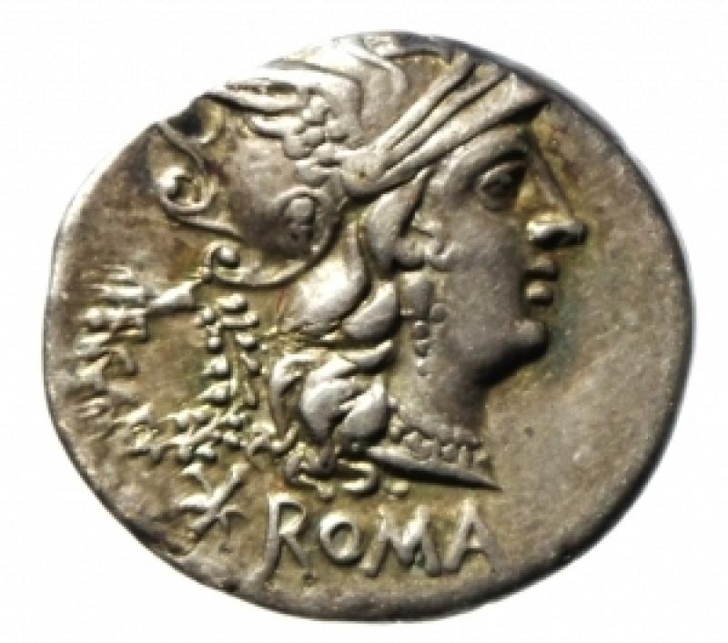 obverse: servilia denario