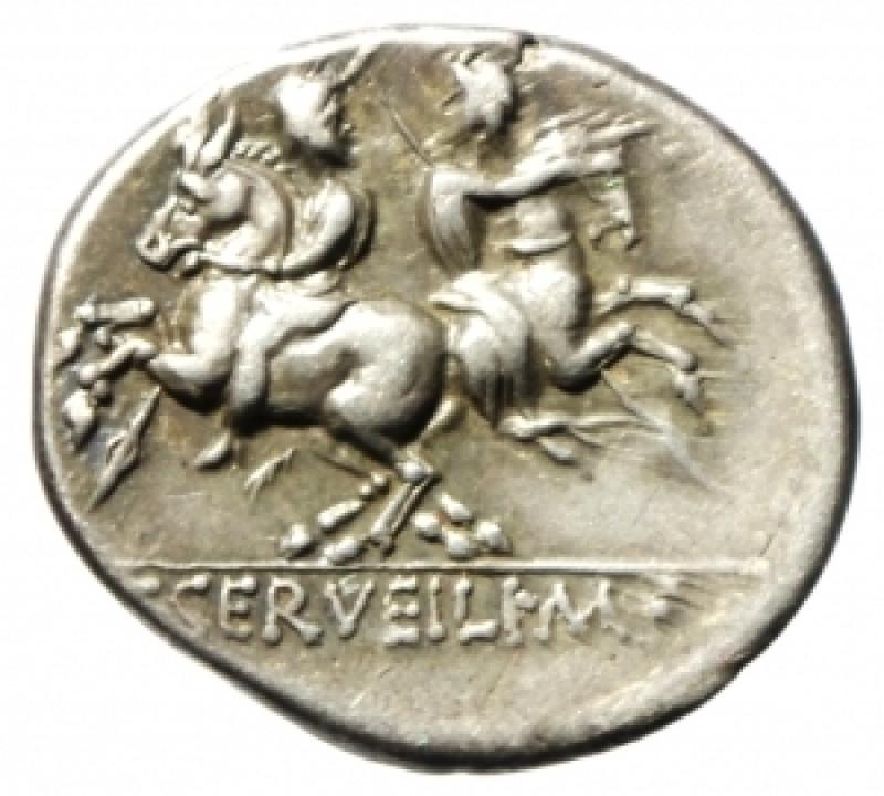 reverse: servilia denario