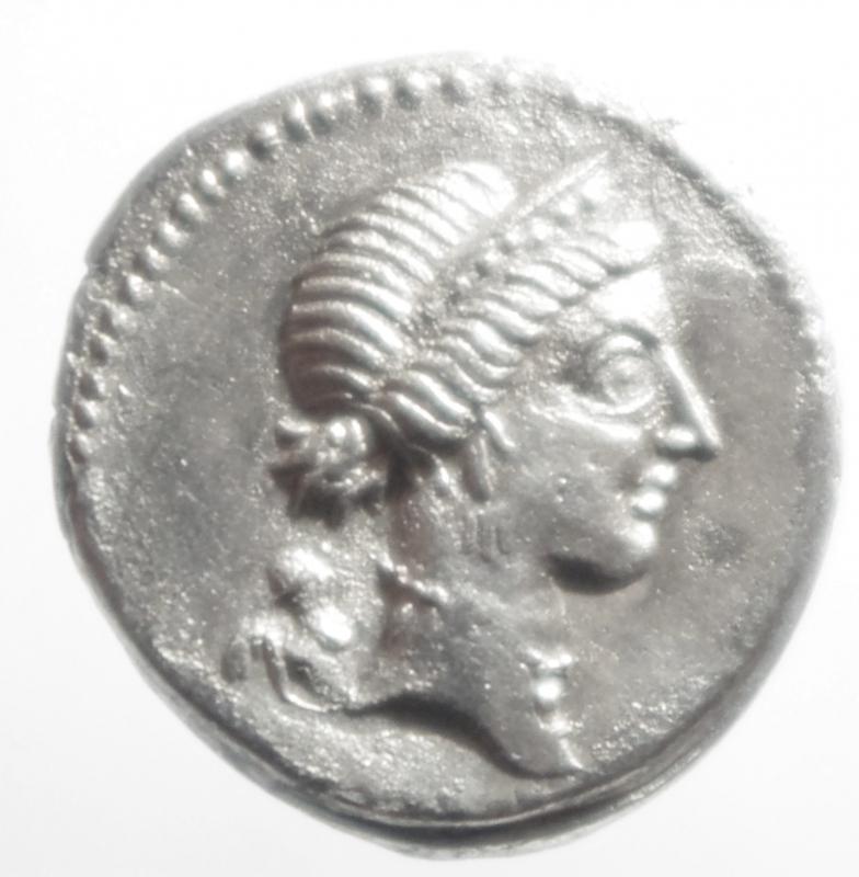 obverse: denario Giulio Cesare
